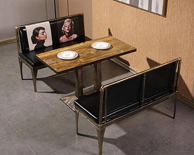 饭店卡座沙发_型号CT017