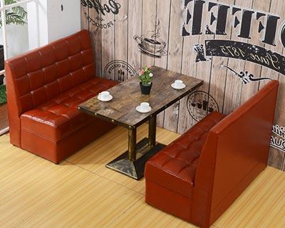 卡座软包沙发桌椅_型号CT021