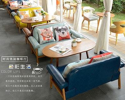 西餐店桌椅定做_型号WR020
