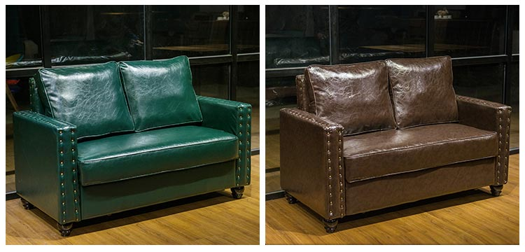 两种颜色的清吧卡座沙发
