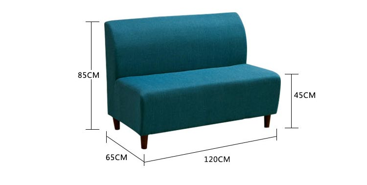 休闲卡座沙发尺寸示意图