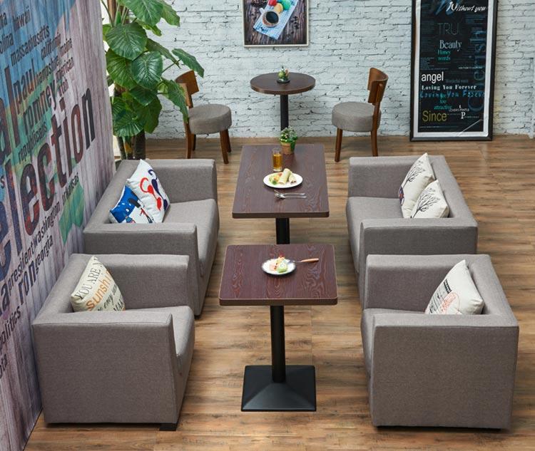 商务卡座沙发效果图片