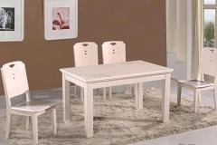 餐厅桌椅厂怎么造假实木餐桌椅?