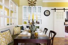 用卡座沙发代替家里的餐椅