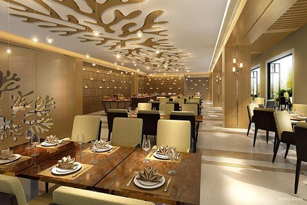 北欧风西餐厅桌椅图片