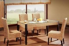 藤编西餐厅桌椅清洁方法