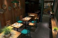 西餐厅餐桌样式