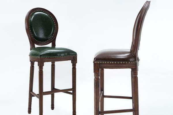 欧式复古吧椅