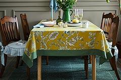 西餐厅的桌布搭配