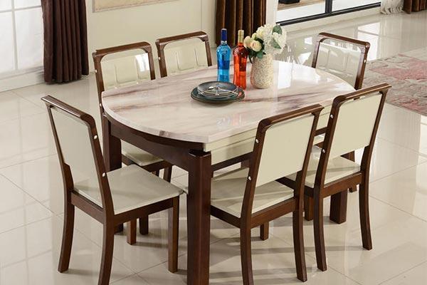 北欧大理石餐桌