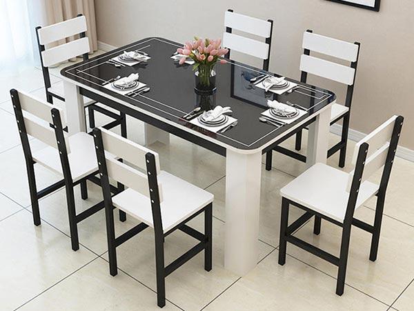 钢化玻璃西餐桌子