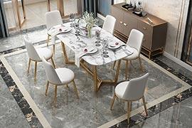 大理石西餐厅桌椅