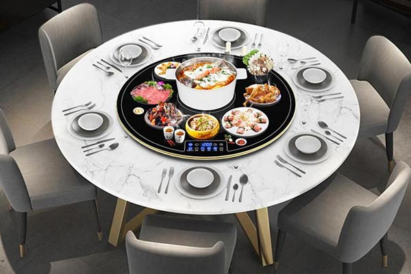 旋转火锅桌