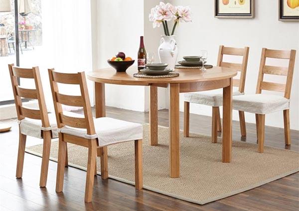 北欧风实木可伸缩餐桌