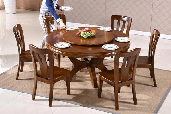 中式简约橡木餐桌椅