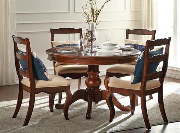 美式乡村实木餐桌椅