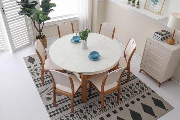 北欧伸缩餐桌