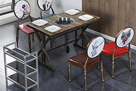 火锅店一套桌椅多少钱?