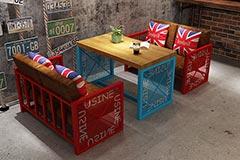 咖啡厅卡座沙发桌椅组合
