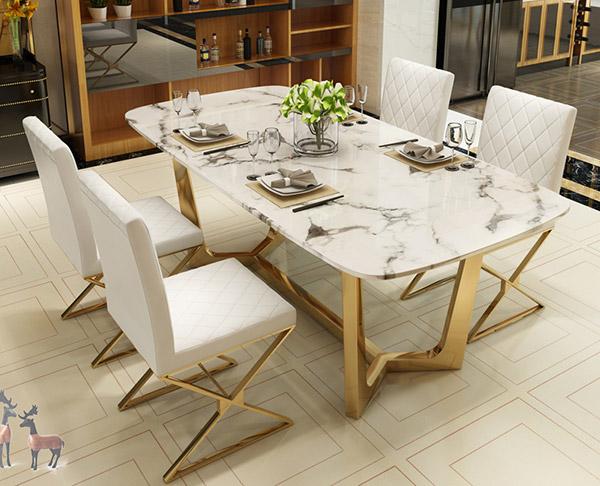北欧大理石餐桌椅组合
