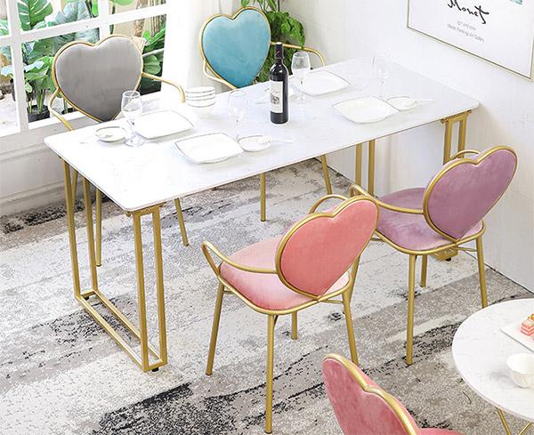 轻奢大理石餐桌椅