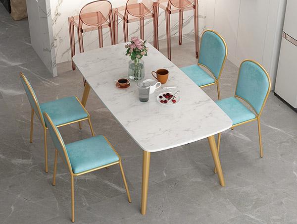 网红大理石餐桌椅组合