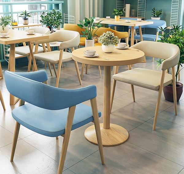 网红餐厅桌椅图片