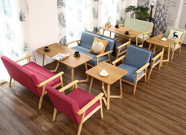 快餐店卡座沙发图片