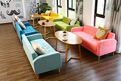 抖音网红餐厅沙发