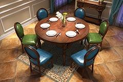 轻奢美式餐桌椅