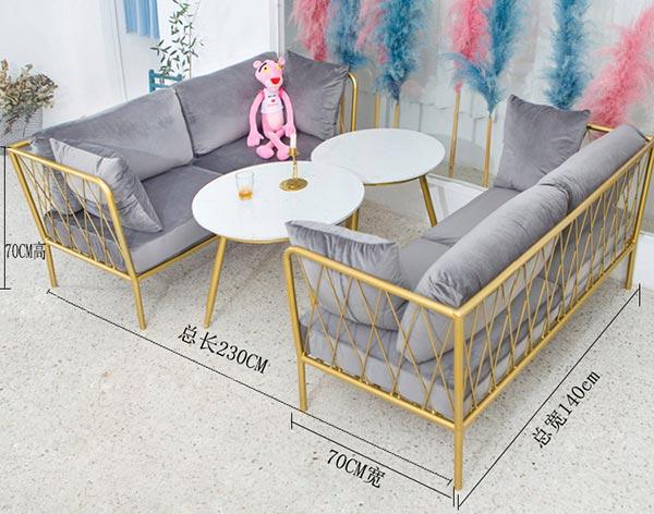 咖啡厅沙发尺寸示意图