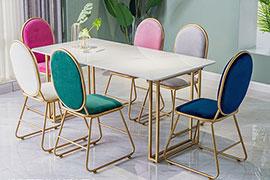 轻奢餐桌椅款式