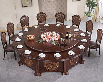 旋转式火锅餐桌_型号HP023