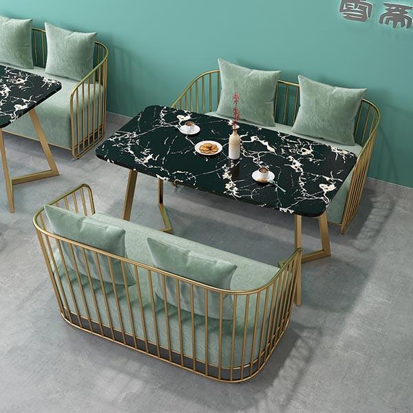 卡座桌椅组合图片