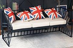 美式卡座沙发图片