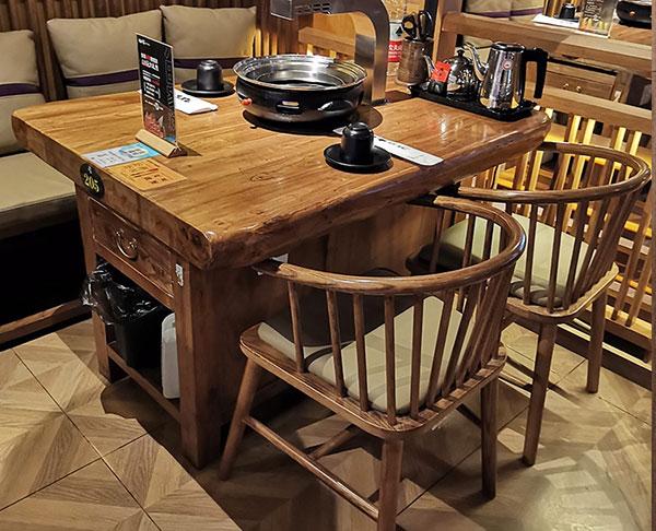 火锅桌子带电磁炉一体图片