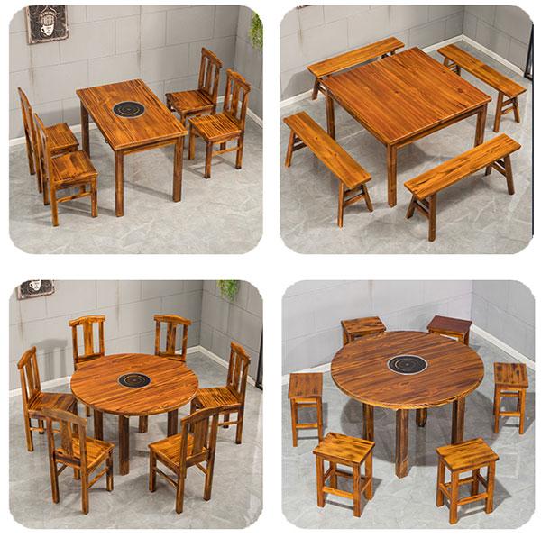 火锅桌椅图片