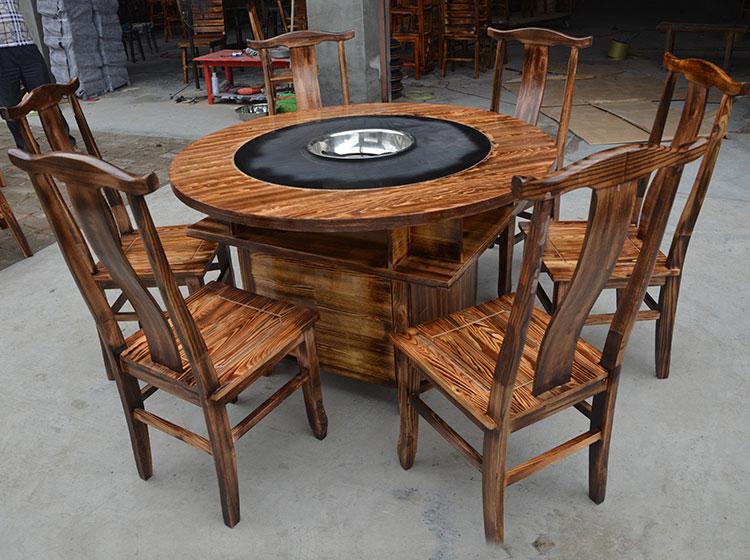 实木火锅桌椅装修效果图
